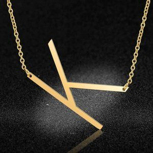 Jewelry - Stainless Steel Fashion Monogram K Necklace